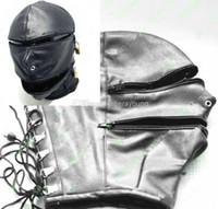 Sex SM Game Accessories Female PU Head Mask Hoods BDSM Bonda...