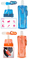 Wholesale hot sale Outdoor folding water bags portable sports ice water bottle oz hot water bottle Plastic water bottle