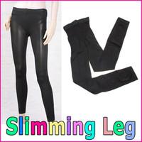 Cheap M Size Black Nylon Spandex Sleeping Nighttime Slim Leg Body Shaper Wear Beauty Shaping Pants Slimming Leggings, Free Shipping