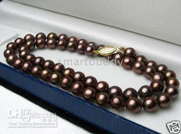 Wholesale GENUINE quot MM SOUTH SEA CHOCOLATE PEARL NECKLACE K