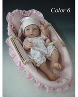 "Cheap 15"" Reborn Baby Dolls Silicone vinyl doll Soft Toys handmade mini Dolls for girls cute Dolls Children's Day gift"