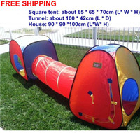 Tents Animes & Cartoons Polyester Wholesale Free Shipping New Childern kids Boys Girls In&Outdoor Tunnel Pop Up kids Children Camping Play Game Tent Toy