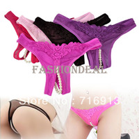 Cheap 2013 Women's Ladies Open Crotch Sexy Thongs G-string V-string Panties Knickers Underwear 6 Color Free Shipping 7260