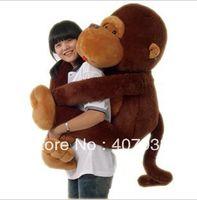 Teddy Bear Brown Plush Big Mouth Monkey 1pcs 51inch Big Mouth Monkey Pillow PP Cotton Stuffed Monkeys Animals Christmas Gifts Plush Toys Doll