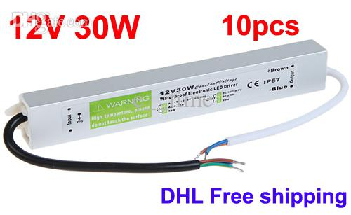 2018 led driver 12v power supply dc 12v 30w led power - Como instalar lamparas led ...