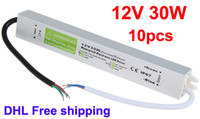 Wholesale AC DC Power Supply V W A Waterproof Electronic LED Strip Driver Transformer DHL
