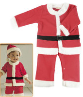 Wholesale Unisex Boys Girls baby Kids Winter Set Outfit Xmas Santa Sleeper Christmas clothing Costume Jumpsuit Gift