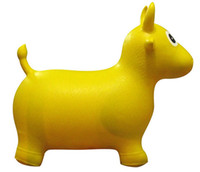 Wholesale Children s toy factory superior PVC outlets increased thickening yellow horse red deer cow inflatable jumping inflatable toys for children