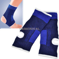 Wholesale New Hot Ankle Pad Protection Elastic Brace Guard Ankle Support Sports Gym Blue Drop Shipping