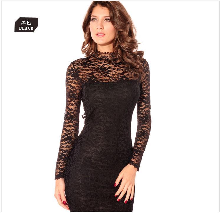 Wholesale Women Fashion Work Evening Dresses Sexy Slim Halter Lace