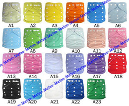 2016 Newest Plain Color Baby Diaper Covers TPU Cloth Diapers Pocket & 3Layer Microfiber Insert Baby Buckle AI2 Diapers Fedex DHL Ship Melee