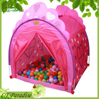 Tents Animes & Cartoons Polyester 2014 New Tent AOLE-HW Princess Castle Outdoor Children Tent Game House Double Door Curtain Portable Magic Toy Tent for 1-3 Kids