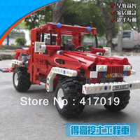 Cheap Free Shipping DECOOL 3327 LARGE 680Pcs Exploiture TOW truck Fire truck Plastic building blocks sets educational children toys