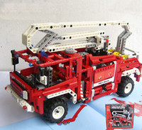 Cheap New DIY classic toys Fire Engines Aerial Fire Truck Crane Truck Eco Friendly Plastic Toys