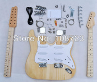 Solid Body 6 Strings Basswood 12 String ST Double neck Electric guitar Kits