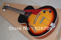 Wholesale NEW ES Archtop Guitar Sunburst ES125 Electric Guitar with red pearl pickguard