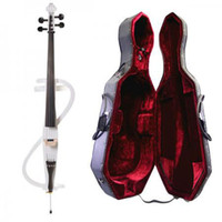 Wholesale Full Size Electric Silent Cello Pickup Ebony Pegs Bag Case Bow Bridge