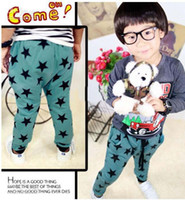 Wholesale Brand New Korean boys girls harem pants kids popular five star trousers children garmen autumn clothing red blue hzgggmy