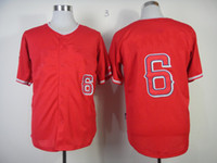 Wholesale Los of Anaheim David Freese Red Cool Base Jersey