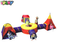 Wholesale Large Kids Teepee and Tunnel Play Tent
