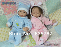 Cheap Free shipping TOP QUALITY 40cm Ultra - simulation baby unique dolls reborn baby girl doll soft reborn kit adora baby doll-D02