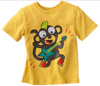 baby monkeys sale - Hot Sale Children s T shirts Fashion Baby Boy T shirts Kids Clothes Monkey Yellow Cartoon Cotton Short Sleeve T shirts