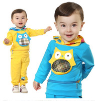 clothing made in china - 2014 Korean version of casual clothes Hat long sleeved children s clothes Cheap Spring apparel Made in China baby wear sale sets JM