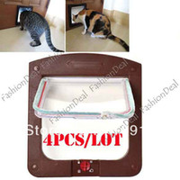 Wholesale 4pcs Hot Sale Puppy dom and Cat Door Small Dog Door Way Flap Safe Pet Toy Supplies Colors