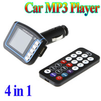Wholesale 4 in quot LCD Display Car MP3 MP4 Player FM Transmitter SD MMC USB with Remote Control dropshipping