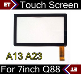 Wholesale DHL Brand New Touch Screen Display Glass Replacement For Inch Q88 A13 A23 Tablet PC MID TC1