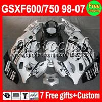 Wholesale Fairing gifts For SUZUKI KATANA GSXF600 GSXF750 M C194 GSXF GSX F F black white On sale