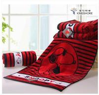 Wholesale Snoopy jacquard terry x35cm cotton washouts towel soft