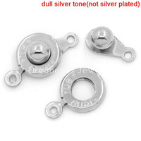 Wholesale Trailer Hitch Clasps Silver Tone x9 mm x5 mm x9 mm B25381