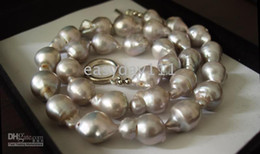 12-13mm south sea baroque white pearl necklace 18'' 14k
