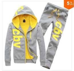 Wholesale 2014 New winter Hoodies for Men Leisure Men s Sports Suit top brand quality Hoodies with Printing Letters