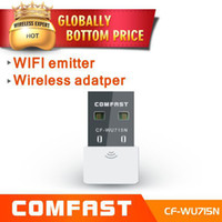 Wholesale mini wireless adapter comfast CF WU715N ralink wifi b g n Mbps usb2 network card with CD driver