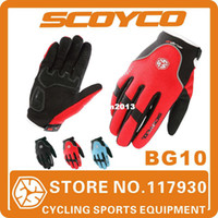 Wholesale 2013 Scoyco BG10 Bicycle Full Finger GEL Gloves Cycling Sports Mens Women Bike Windproof Wram Winter Accessories