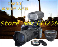 Wholesale D3200 digital camera million pixel camera Professional SLR camera X optical zoom HD camera plus LED headlamps