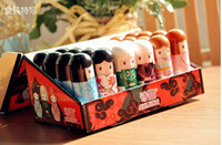 lip gloss - Lip Balm Cute Japanese doll lip balm moisturizing Pure natural plant Comfortable Fresh Fruit Favor Lipstick Lipsticks Lip Gloss