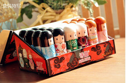 Wholesale Lip Balm Cute Japanese doll lip balm moisturizing Pure natural plant Comfortable Fresh Fruit Favor Lipstick Lipsticks Lip Gloss