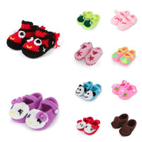 Wholesale Baby Velvet Crochet Shoes Infant First Walker Handmade Knit Shoes Style Choose DJT