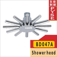 Without Diverter Water Saving Shower Heads Chrome Free shipping BD047A brass water saving shower head bath shower rain shower head overhead shower