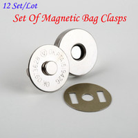 Alloy purse clasp - set mm Silver Colour Dish shape Magnetic snap button clasp fastener for sewing craft clothing bag handbag purse wallet