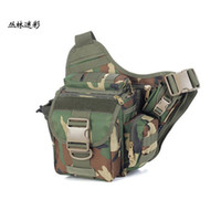 Wholesale outdoor fishing saddlebag fishing tackle multi functional waistbag shoulder bag leisure camera bags