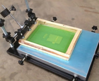Wholesale small screen printing machine handprint Taiwan simple flat screen printing machine printing machine free wooden frame and two LOGO