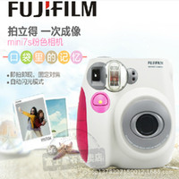 Wholesale Fuji instant cameras Polaroid cameras mini7 Rose Red Two colors blue camera