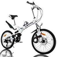 Wholesale 20 quot folding mountain bicycle steel folding bicycle speed disc brakes lantu folding bicycle bike