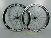 Road Bikes Carbon 12 Inch 1pair DURA-ACE C50 700C(50mm) clincher rim 3K carbon bicycle wheelset with alloy brake rim Road bike carbon wheelset Free ship