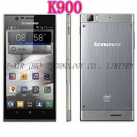 Lenovo 5.5 Android Original Lenovo K900 Intel Z2580 2.0GHz Dual Core 2G+16G Android 4.2 OS 5.5'' 1920x1080 FHD IPS Screen 64 Multi-Language Russian