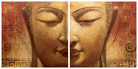 More Panel Oil Painting Abstract Framed!Wholesale-Oil Wall Art,Wall Canvas Art,Modern Abstract Asian Buddha Canvas Oil Painting:BU#017-2